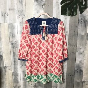 Anthropologie Mermaid Embroidered Pattern Tunic